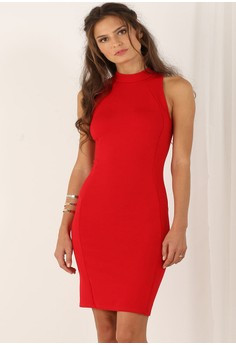 Sleeveless Keyhole Bodycon Dress