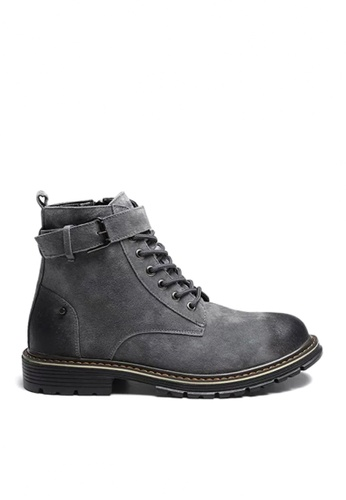 Twenty Eight Shoes grey VANSA Stylish Leather Mid Boots VSM-B3320 3321CSHDAD80A1GS_1