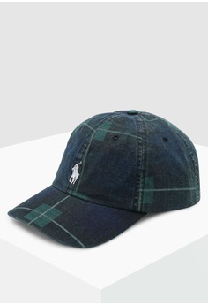 74cc111e Sizes One Size · Polo Ralph Lauren green and multi Cotton Chino Sports Cap  0B3D9AC654537AGS_1