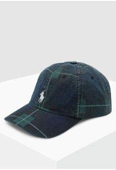 e4ca34b41b493 Polo Ralph Lauren green and multi Cotton Chino Sports Cap 0B3D9AC654537AGS 1