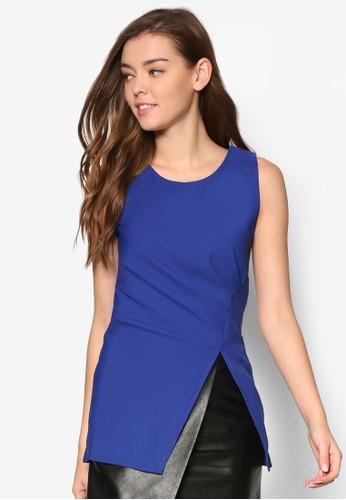 Patsy 側抓褶開叉無袖T-shirt、 服飾、 上衣MeganePatsy側抓褶開叉無袖上衣最新折價