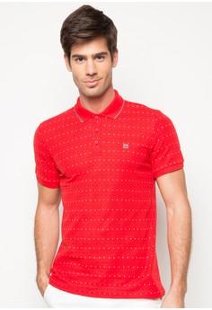 Men's Basic Printed Polo with Embro