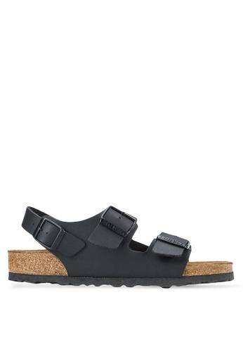 Birkenstock black Milano Birko-Flor Sandals BI090SH62HNHMY_1