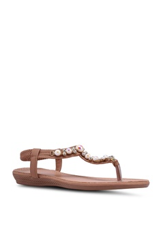 2a671a6a37982 20% OFF Mimosa Embellished Flat Sandals RM 95.00 NOW RM 76.00 Sizes 36