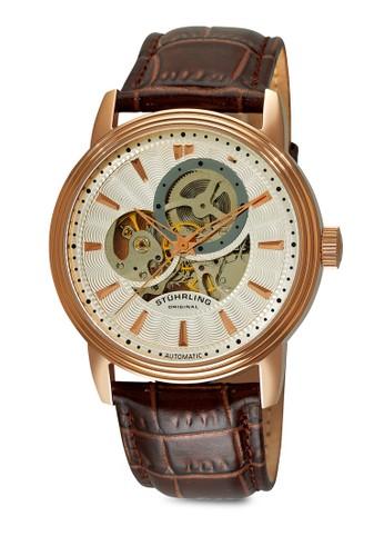 esprit 工作Delphi Acheron 經典圓錶, 錶類, 皮革錶帶