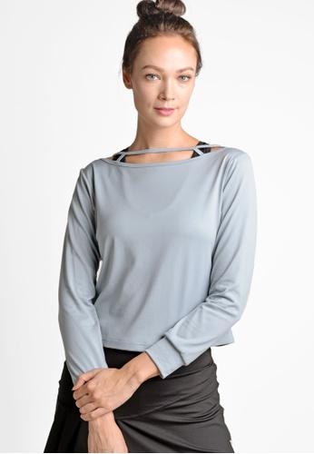 ViQ grey ViQ Long Sleeve Top 0A843AA591DBC7GS_1
