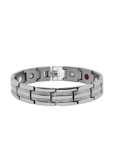 Elfi Stainless Steel Magnetic Power Energy Health Bracelet Bangle 09