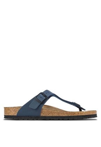 Birkenstock 藍色 Gizeh Birko-Flor Sandals BI090SH58HNLMY_1