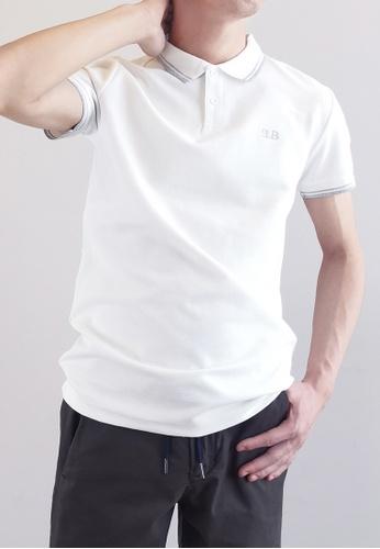 SUB white Men Basic Polo Tee 9255AAA80DD04CGS_1