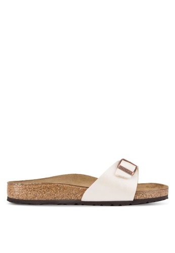 Birkenstock white Madrid Sandals BI090SH51JRCMY_1