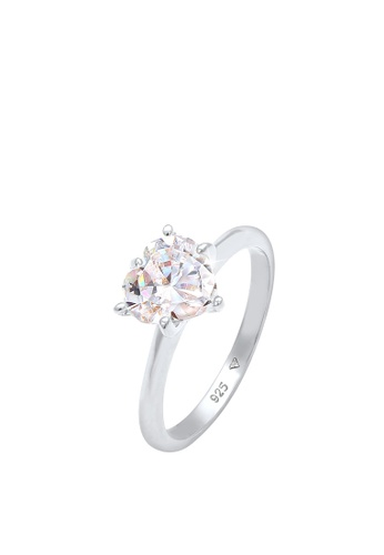 ELLI GERMANY white Heart Solitaire Zirconia Engagement Ring F6D2AACF2A1FE7GS_1