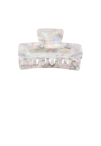 Glamorousky silver Simple Fashion Pattern Geometric Rectangle Hair Claw CE939ACD962133GS_1