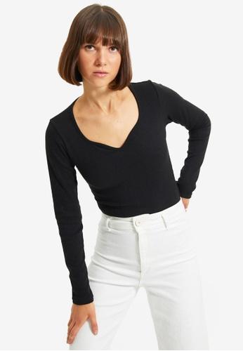 Trendyol black Long Sleeve Bodysuit 700D7AA0B16A8AGS_1