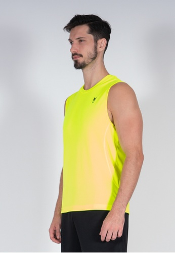 AMNIG yellow Amnig Men Training Sleeveless Top (Safety Yellow) D7F03AA8201746GS_1