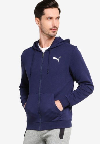 PUMA navy Sportstyle Core Essentials Hooded Jacket A32DDAA9395D5AGS_1