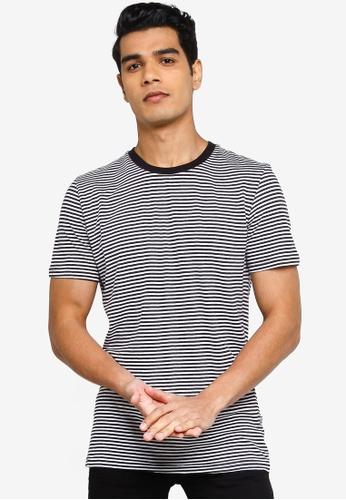 !Solid black Stripe T-Shirt 2F567AA7504CC0GS_1