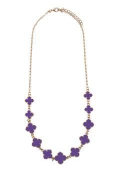 Multi Enamel Flower Necklace