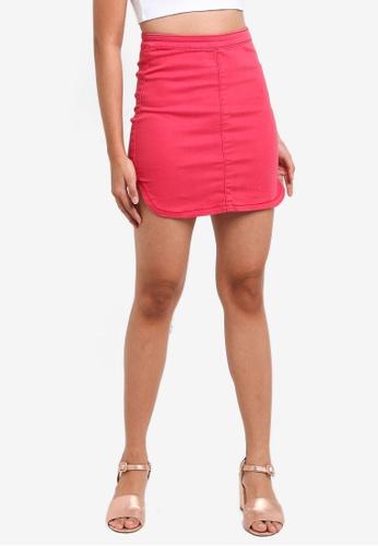 Supre red The Tyra Skirt 6F92CAA13E406CGS_1