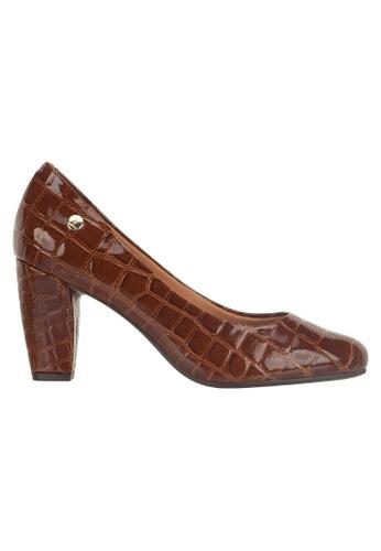 Beira Rio brown Patent Croco Design Block Shoes VI997SH37EUCHK_1