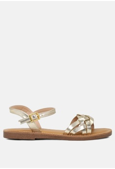 a7aa87c62a1 London Rag gold Ankle Strap Flat Sandals 28AECSHBB8D657GS 1