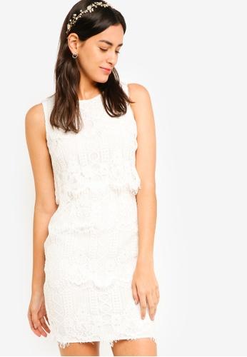 ZALORA white Bridesmaid Double Layer Lace Dress F7D03AAA5AC26CGS_1