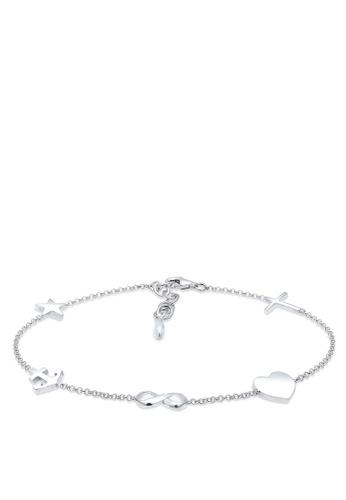Elli Germany silver Elli Germany Bracelet Cross Heart Infinity Anchor Star 925 Silver EL474AC80OJZMY_1