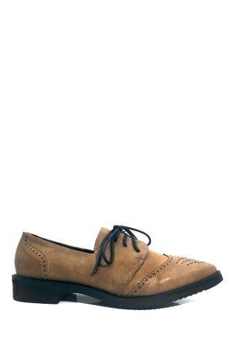 Twenty Eight Shoes 褐色 VANSA 懷舊擦色牛津鞋 VSW-F76666 87AD9SHF36667AGS_1