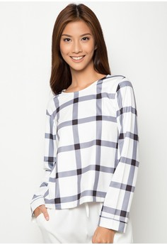 Yale Checkered Long Sleeves Top