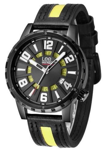 Lee Watches black and green Lee Watch M35DBL9-19 Jam Tangan Pria Lee Metropolitan Gents Kulit Hitam Yellow 21EC8AC116A20FGS_1