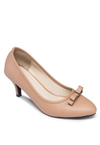 金飾蝴蝶結高跟鞋, 女鞋,esprit tw 鞋