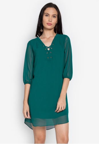 Rated E Fashion green Alaine Dress RA951AA0KNLWPH_1