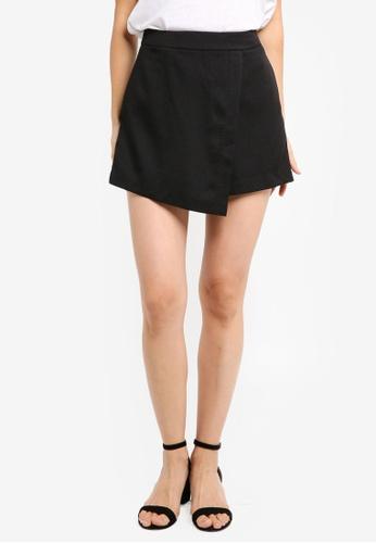 ZALORA black Flap Shorts F1496AA6C2839FGS_1