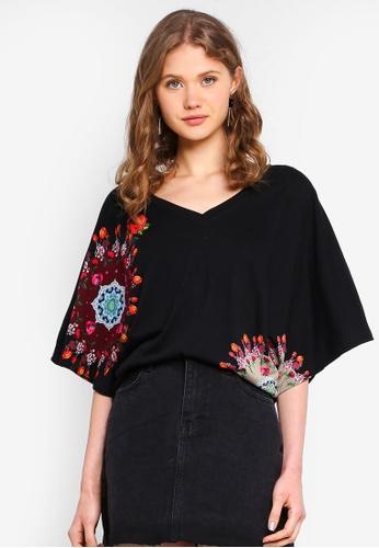 Desigual black Corina T-Shirt 77953AAD09E159GS_1