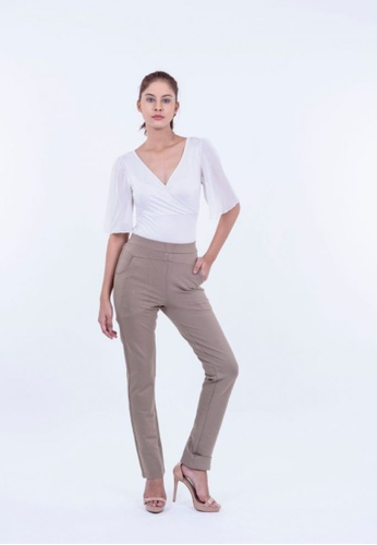 Ladies Jeans Stretch Trousers With Designing Pocket 574DFAAECC7421GS_1