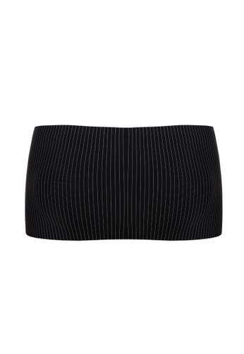 Kimberly black Seamless Stripe Padded Bandeau Tube Top 4C301US1A5AA65GS_1