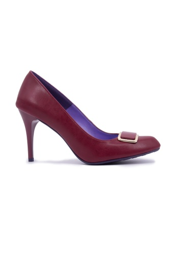 Flatss & Heelss by Rad Russel red Almond  Elegant Heels - Burg 1112DSH37A3874GS_1
