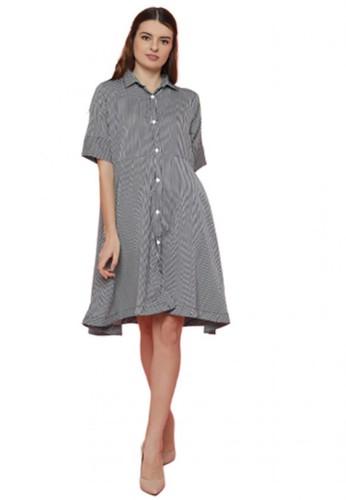 Gina Alana black and grey Gina Alana Black Mili Buttoned Dress FDC56AAD7B1979GS_1