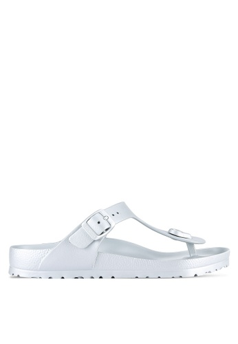 Birkenstock silver Gizeh EVA Sandals BI090SH0RTIJMY_1