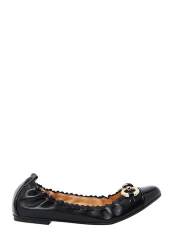 Nina Armando black Bree Leather Ballet Flats NI342SH0FV8LSG_1