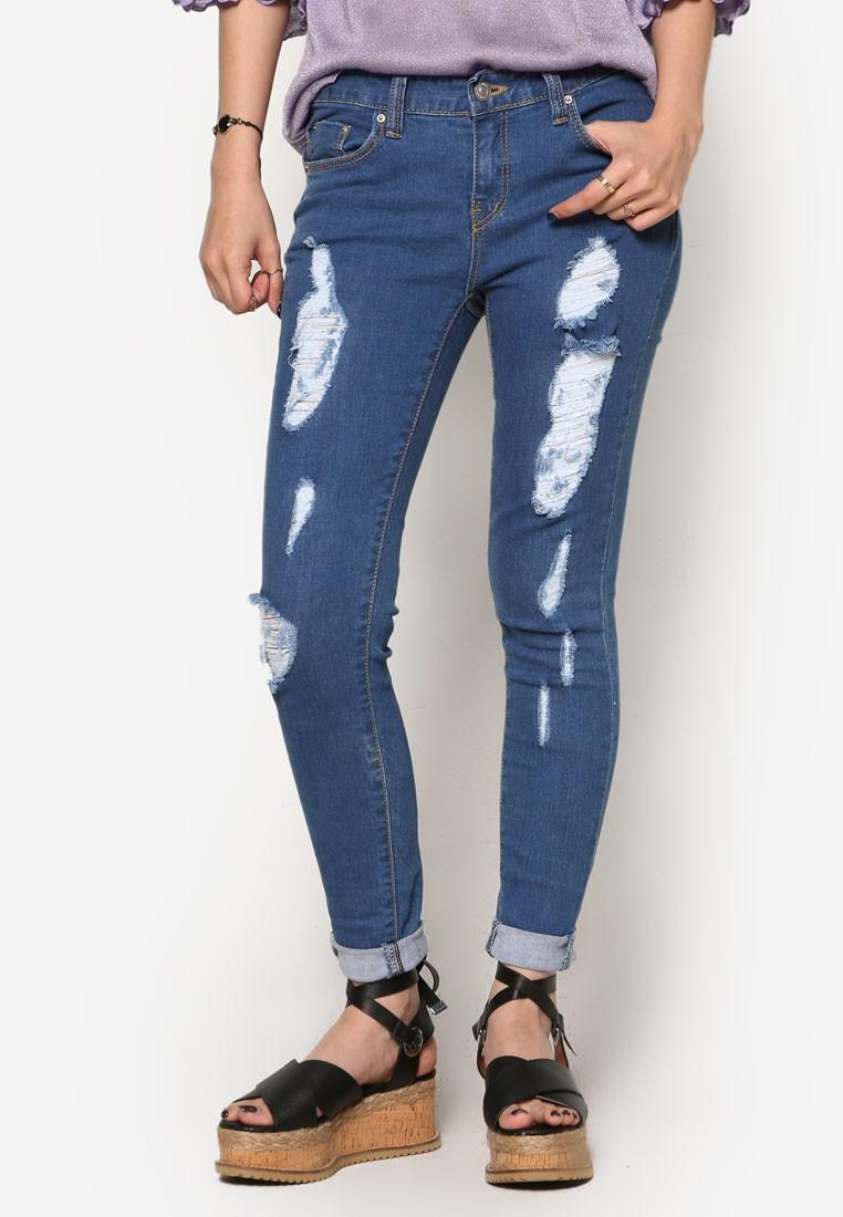 K Fashion Vintage Skinny Denim Jeans