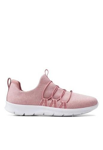 Clarks CLARKS Step AllenaMae Mauve Textile Womens Casual Shoes DD0C2SHEACBD00GS_1
