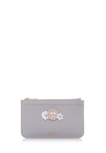 BONIA grey Light Grey Botanica Zipper Wallet D21BCACFE29B7DGS_1