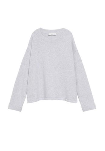 MANGO KIDS grey Knit Cotton Sweater D144EKAB058F7DGS_1