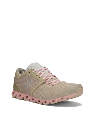 On pink and beige Cloud X Women's Shoes Sand Rose A06E5SH431F23AGS_1