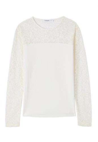 Terranova white Long Sleeve T-shirt 1D5C7AA4149C4DGS_1