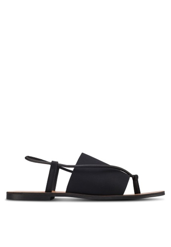 ZALORA black Flat Sandals AAGXHZZ0000038GS_1
