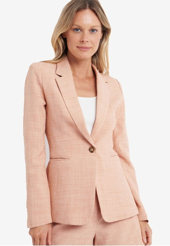 FORCAST pink Nala Single Button Blazer 0B914AA1BB8869GS_1