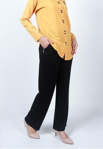 Ladies Jeans black Zipper Pocket Long Pant E167DAA0846268GS_1