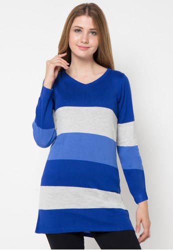 VOYANT BY MEGUMI blue 3 Colourfull Striped Clothes VO505AA52QLZID_1