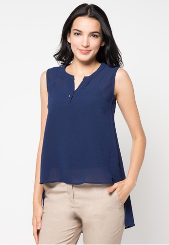 WHITEMODE navy Angela Blouse WH193AA41PTEID_1